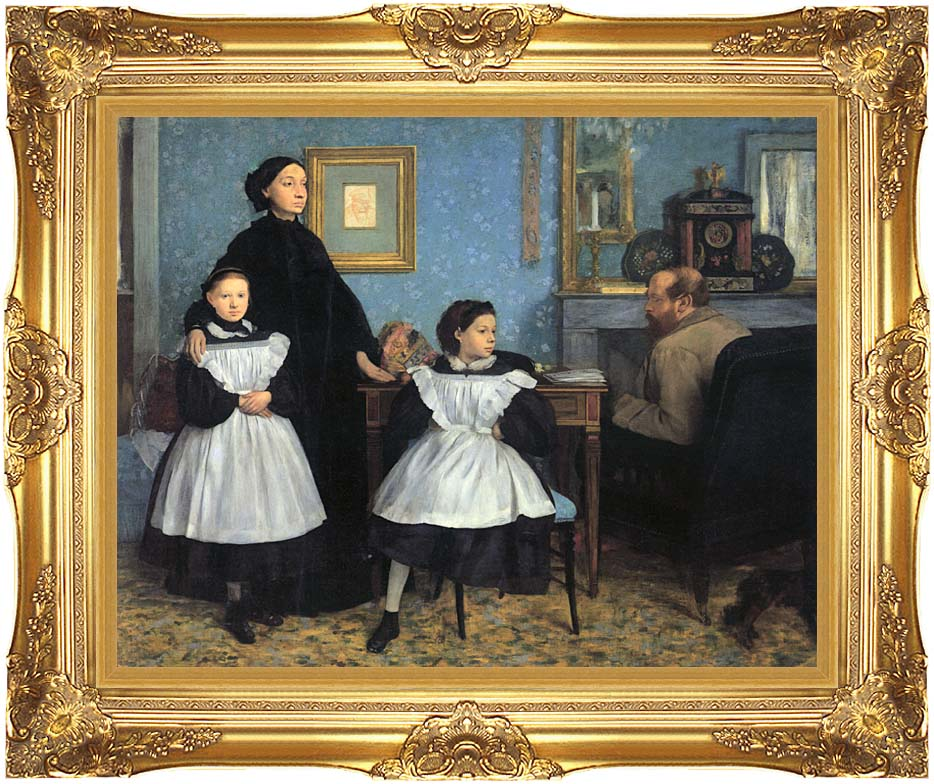Edgar Degas The Bellelli Family with Majestic Gold Frame