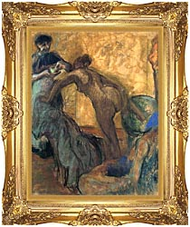 Edgar Degas The Cup Of Chocolate canvas with Majestic Gold frame