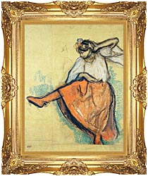 Edgar Degas The Russian Dancer canvas with Majestic Gold frame