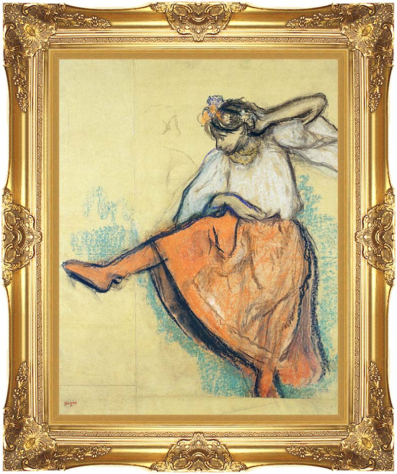 Edgar Degas The Russian Dancer with Majestic Gold Frame