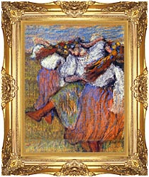 Edgar Degas The Russian Dancers canvas with Majestic Gold frame