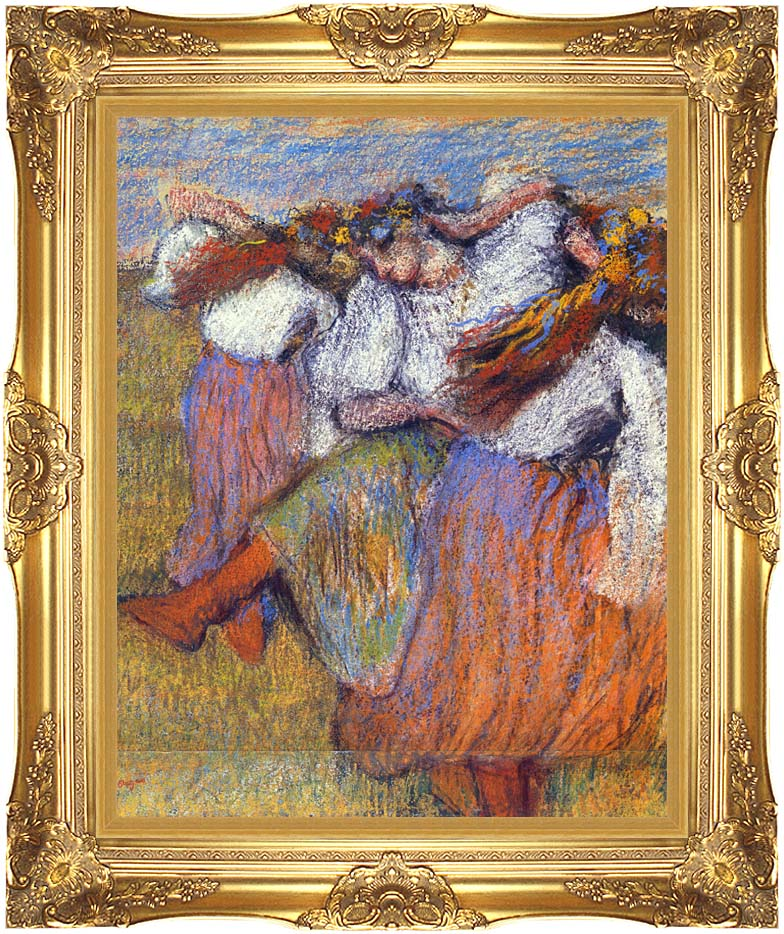 Edgar Degas The Russian Dancers with Majestic Gold Frame