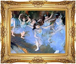 Edgar Degas The Star Dancers Detail canvas with Majestic Gold frame