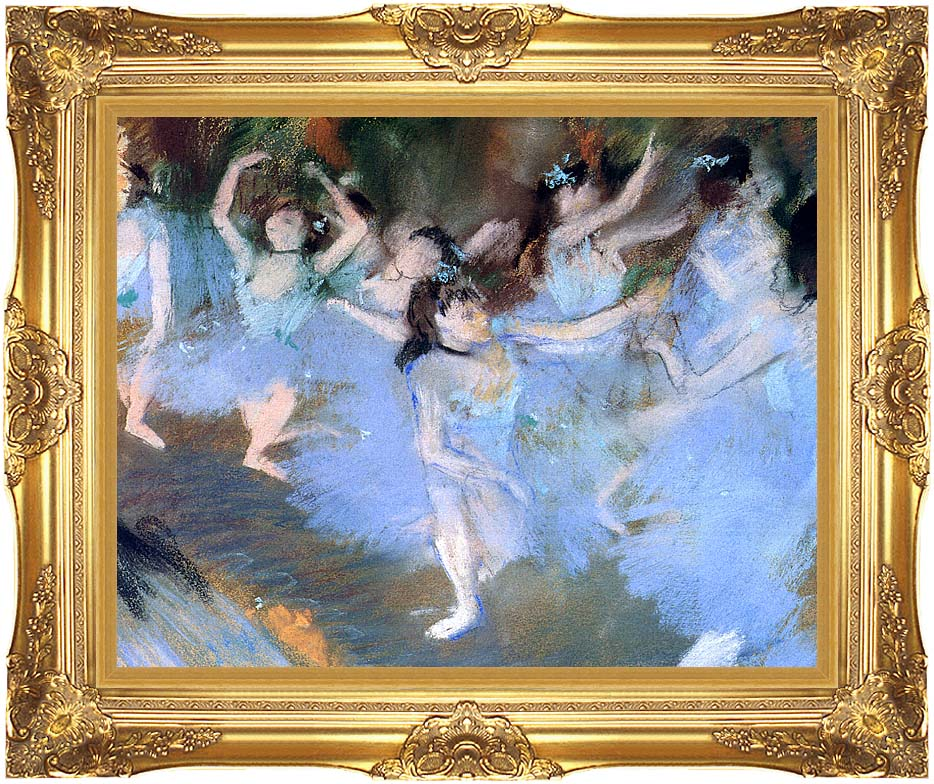 Edgar Degas The Star (dancers detail) with Majestic Gold Frame