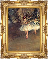Edgar Degas Two Dancers On The Stage canvas with Majestic Gold frame