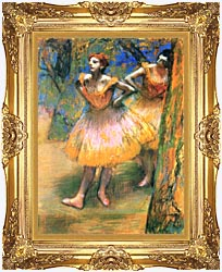 Edgar Degas Two Dancers canvas with Majestic Gold frame