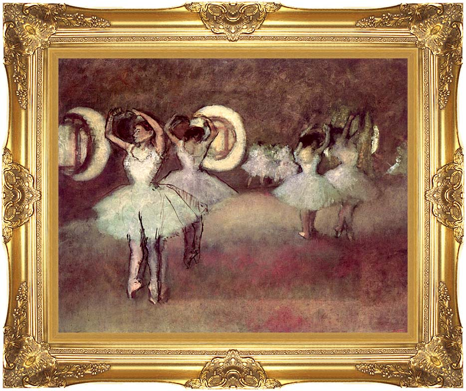 Edgar Degas Dancers in the Foyer with Majestic Gold Frame