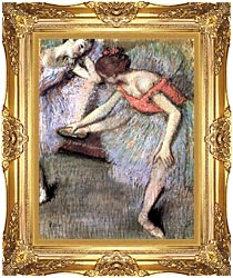 Edgar Degas Danseuses canvas with Majestic Gold frame