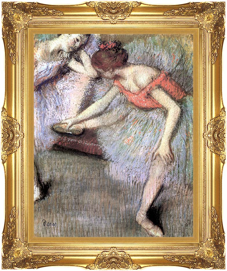 Edgar Degas Danseuses with Majestic Gold Frame