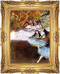 Edgar Degas Ballet On The Stage canvas with Majestic Gold frame