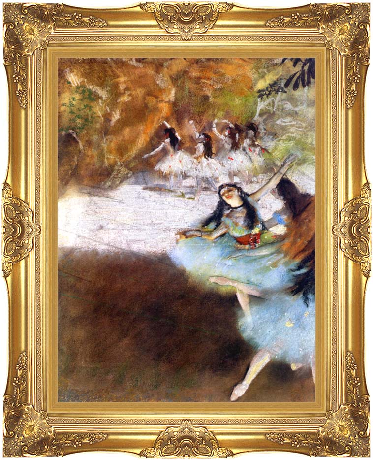 Edgar Degas Ballet on the Stage with Majestic Gold Frame