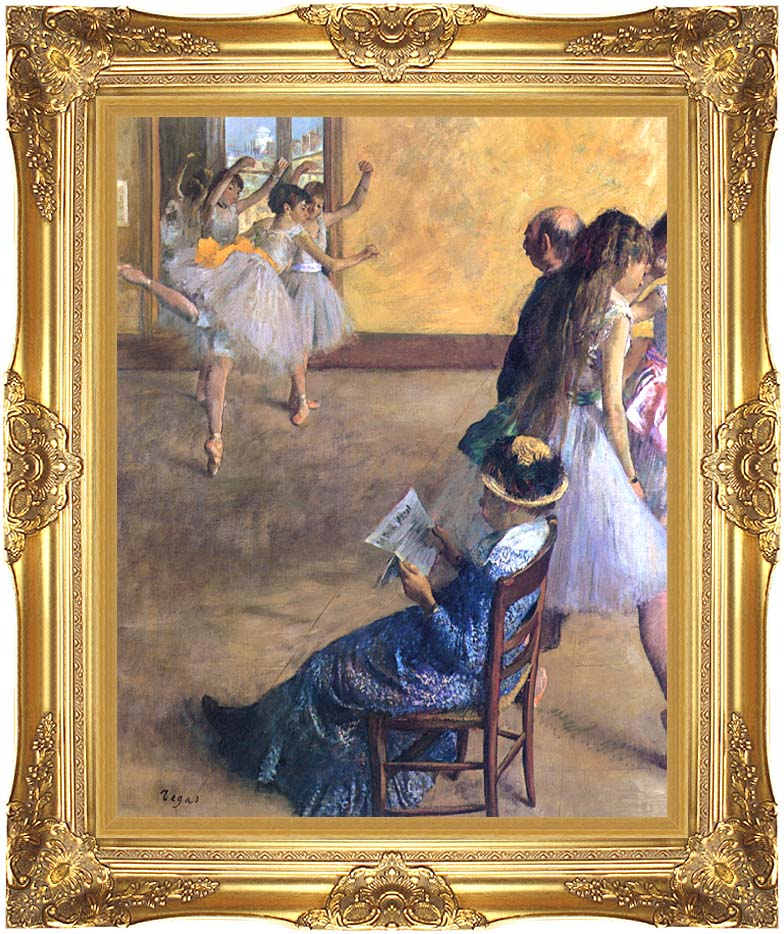 Edgar Degas The Ballet Class with Majestic Gold Frame