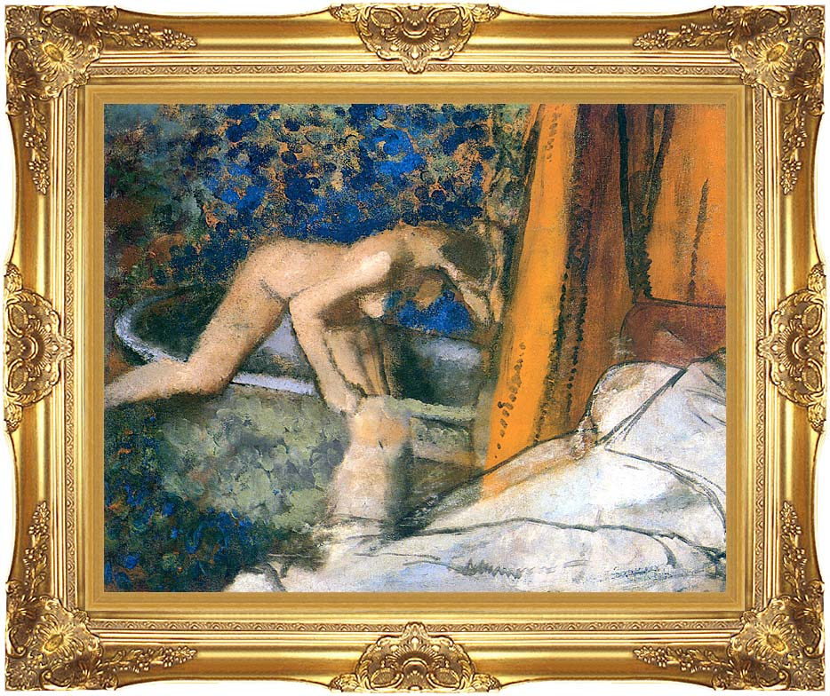 Edgar Degas The Bath, Impressionism with Majestic Gold Frame