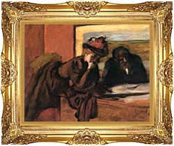 Edgar Degas The Conversation canvas with Majestic Gold frame