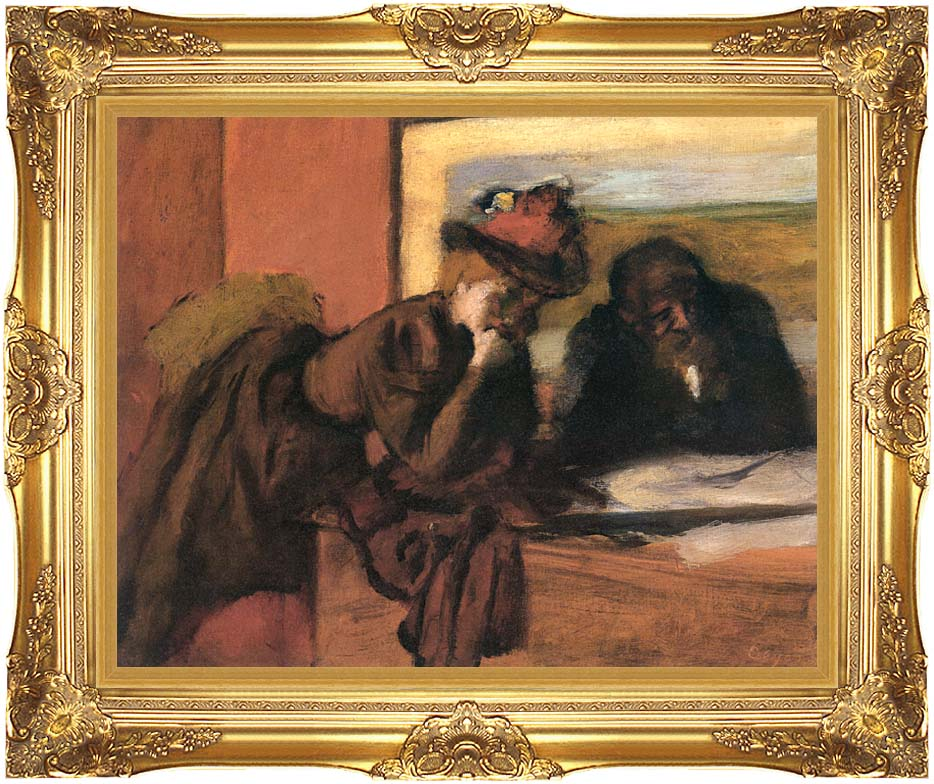 Edgar Degas The Conversation with Majestic Gold Frame