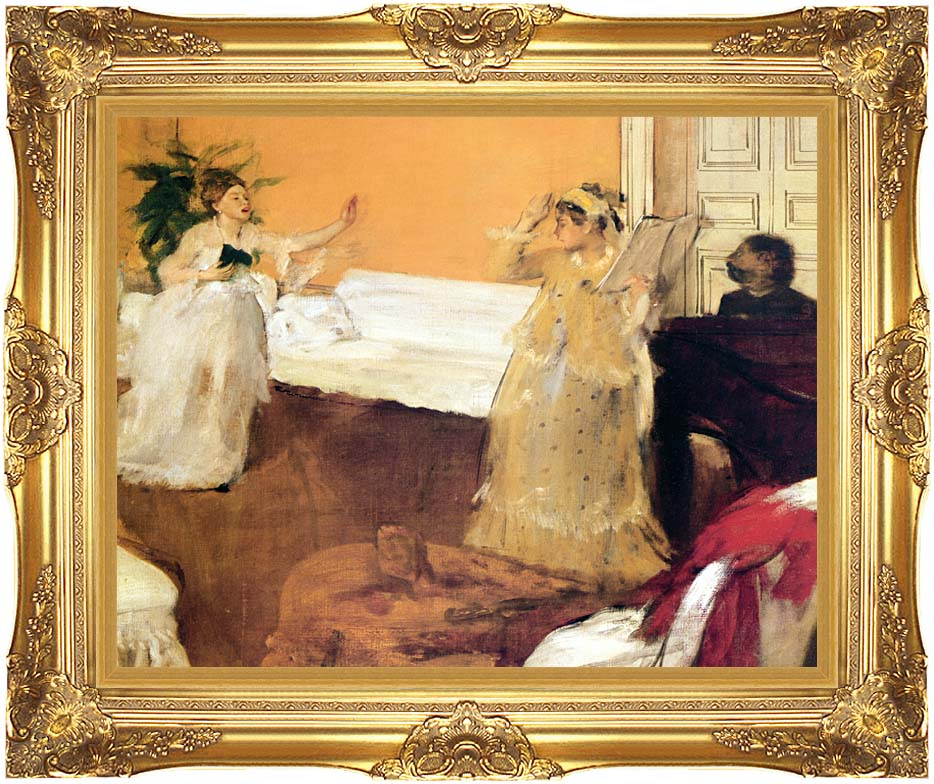 Edgar Degas The Song Rehearsal with Majestic Gold Frame