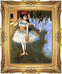 Edgar Degas The Star Impressionist Art canvas with Majestic Gold frame