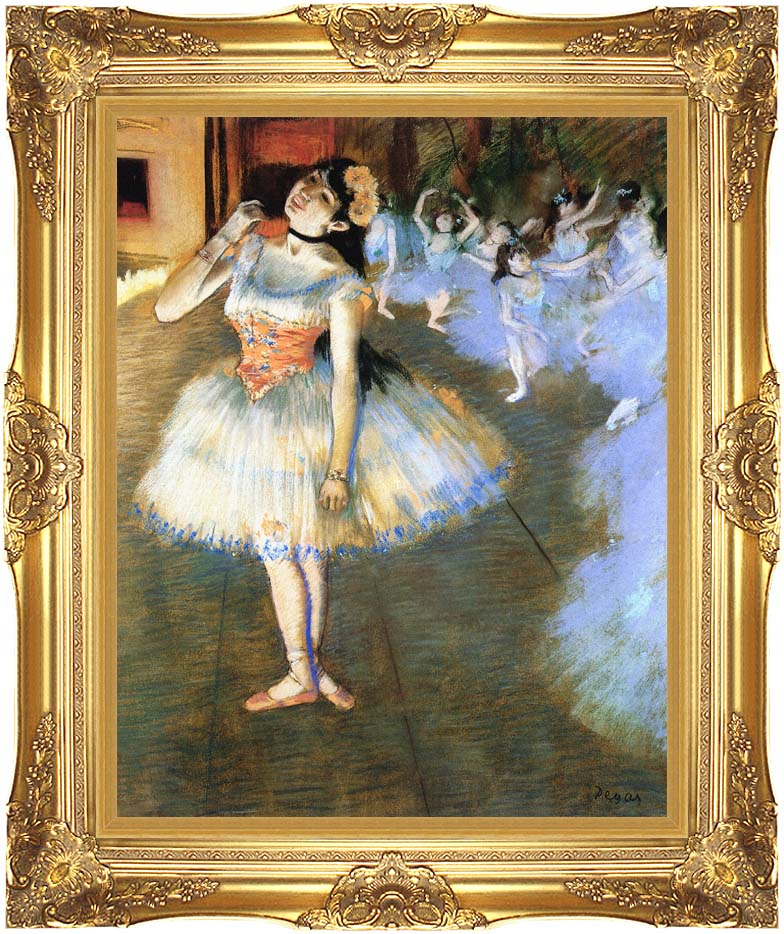 Edgar Degas The Star Impressionist Art with Majestic Gold Frame