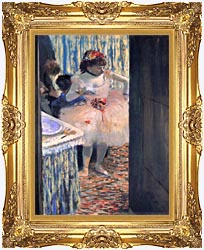 Edgar Degas Dancer In Her Dressing Room canvas with Majestic Gold frame