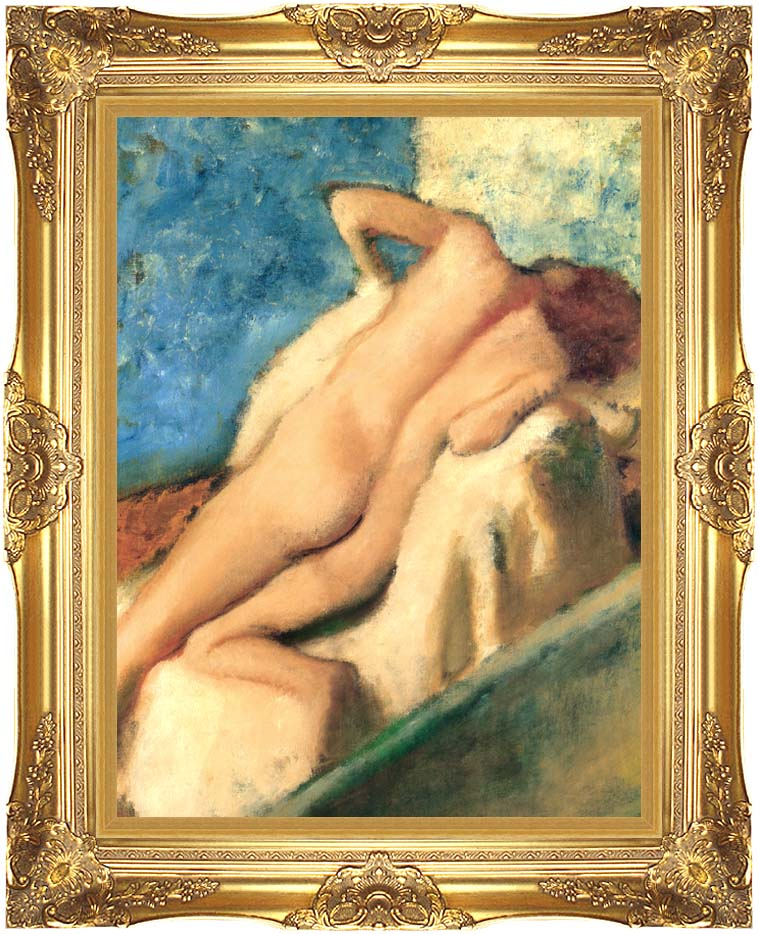 Edgar Degas Nude Woman after the Bath with Majestic Gold Frame