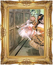 Edgar Degas Impressionist Dancers In The Wings canvas with Majestic Gold frame
