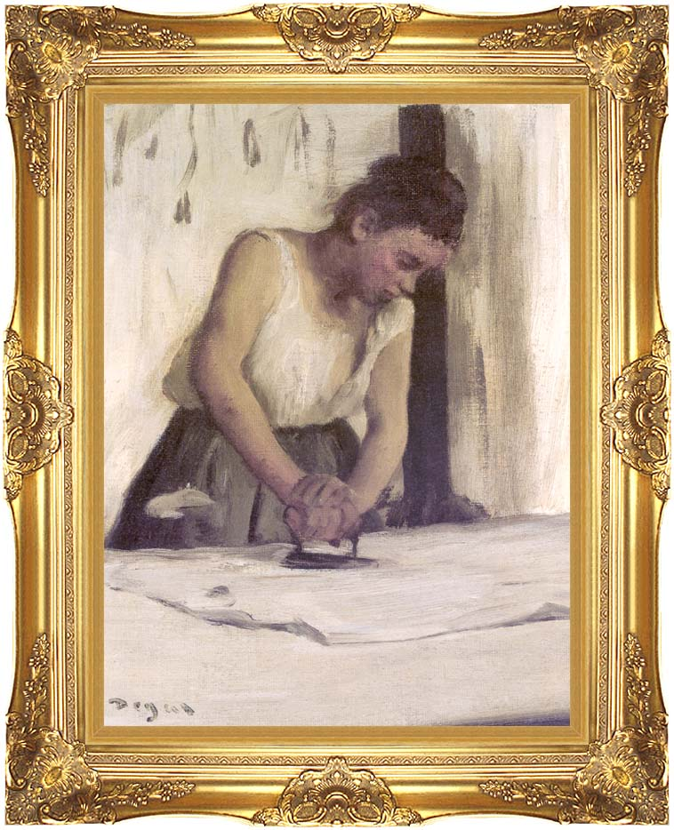 Edgar Degas Laundress with Majestic Gold Frame