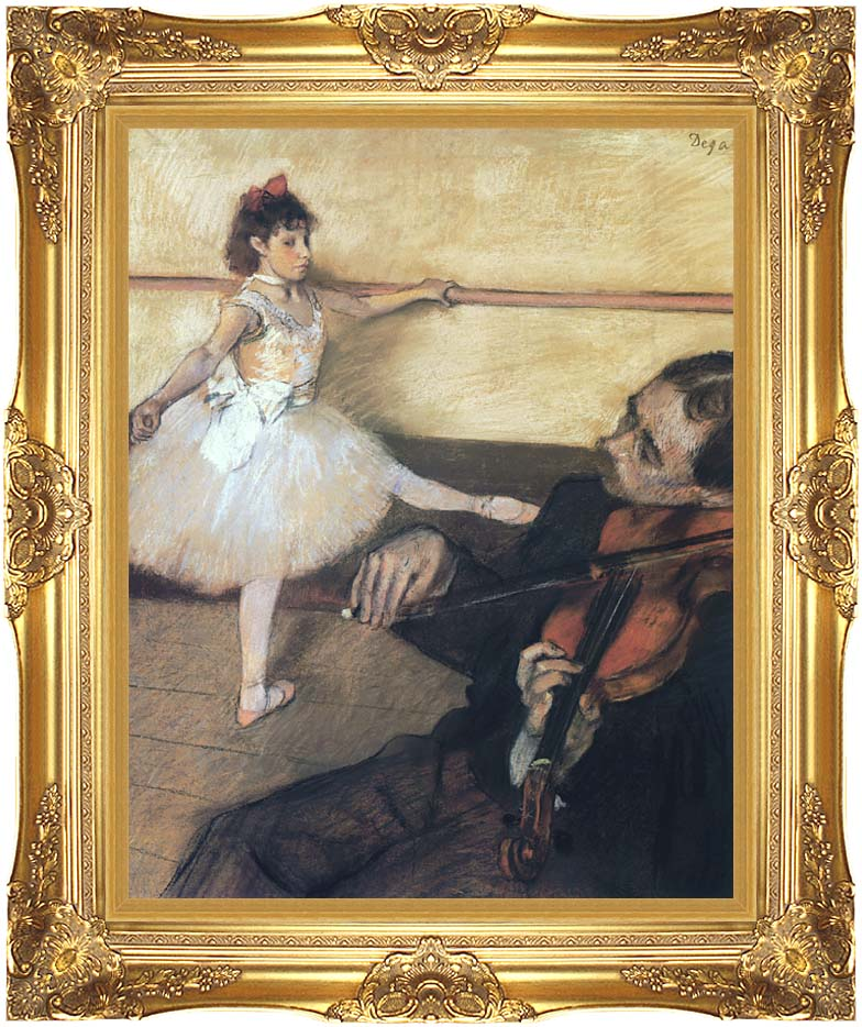 Edgar Degas The Dance Lesson with Majestic Gold Frame