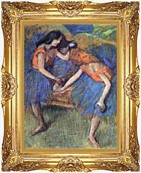 Edgar Degas Degas Ballerinas canvas with Majestic Gold frame