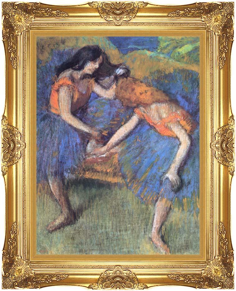 Edgar Degas Degas Ballerinas with Majestic Gold Frame
