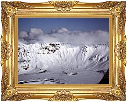 U S Fish And Wildlife Service Aniakchak Caldera canvas with Majestic Gold frame