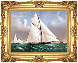 Currier And Ives Cutter Genesta RY canvas with Majestic Gold frame
