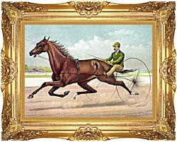 Currier And Ives Edwin Thorne canvas with Majestic Gold frame