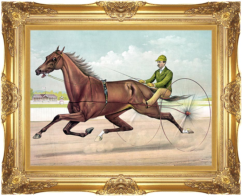 Currier and Ives Edwin Thorne with Majestic Gold Frame