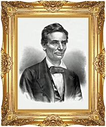 Currier And Ives Hon Abraham Lincoln Of Illinois canvas with Majestic Gold frame