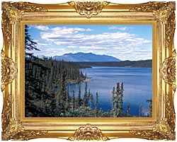 U S Fish And Wildlife Service Blackfish Lake canvas with Majestic Gold frame