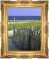 U S Fish And Wildlife Service Chincoteague National Wildlife Refuge canvas with Majestic Gold frame