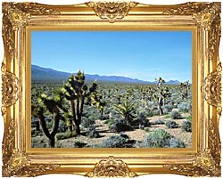 U S Fish And Wildlife Service Yucca Forest canvas with Majestic Gold frame
