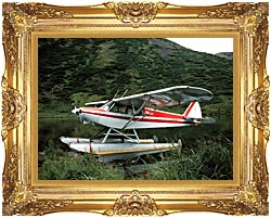 U S Fish And Wildlife Service Float Plane canvas with Majestic Gold frame