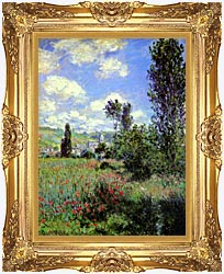Claude Monet Path In The Ile Saint Martin Vetheuil canvas with Majestic Gold frame