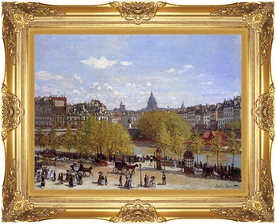 Claude Monet Quai du Louvre, Paris with Majestic Gold Frame