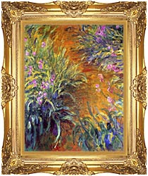Claude Monet The Path Through The Irises canvas with Majestic Gold frame