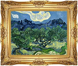 Vincent Van Gogh The Olive Trees canvas with Majestic Gold frame