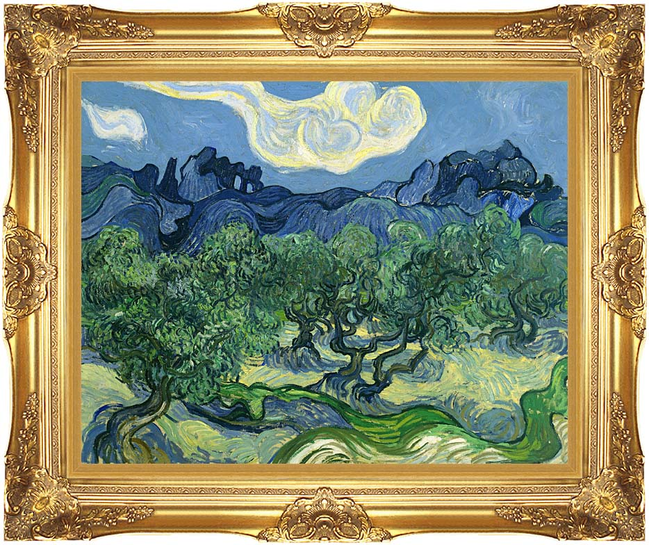 Vincent van Gogh The Olive Trees with Majestic Gold Frame
