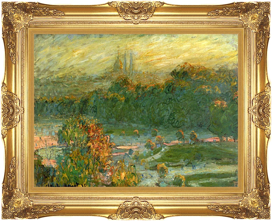 Claude Monet The Tuileries (study) with Majestic Gold Frame