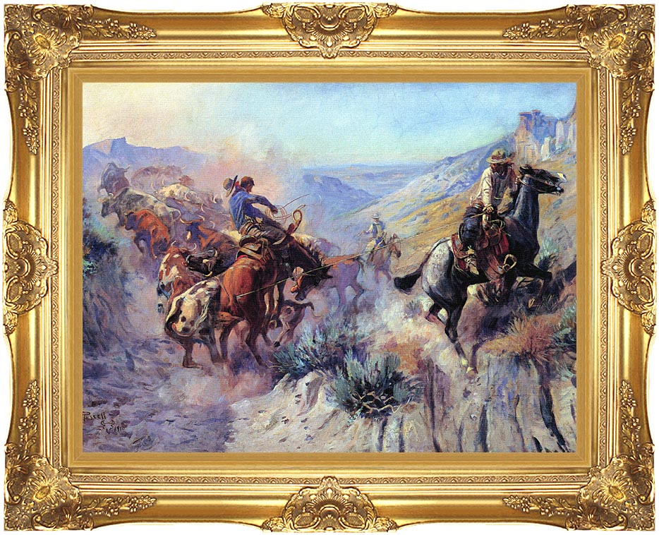Charles Russell A Mix Up with Majestic Gold Frame