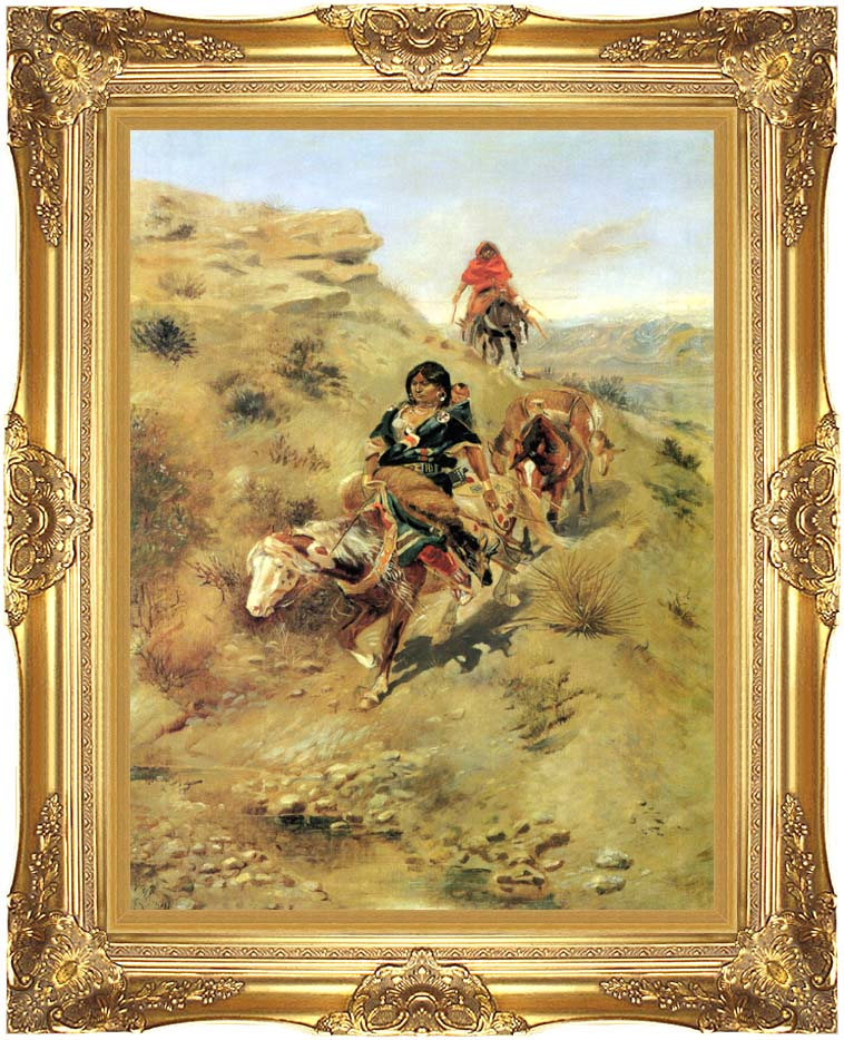 Charles Russell Bringing Home the Meat with Majestic Gold Frame