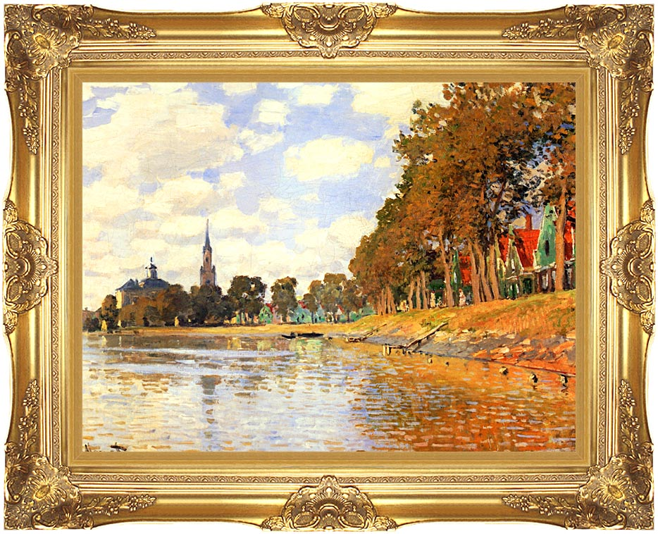 Claude Monet Zaandam with Majestic Gold Frame
