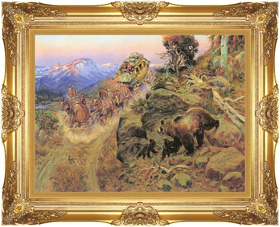 Charles Russell Bruin not Bunny Turned the Leaders with Majestic Gold Frame