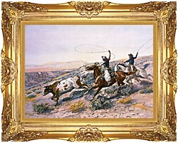 Charles Russell Buccaroos canvas with Majestic Gold frame