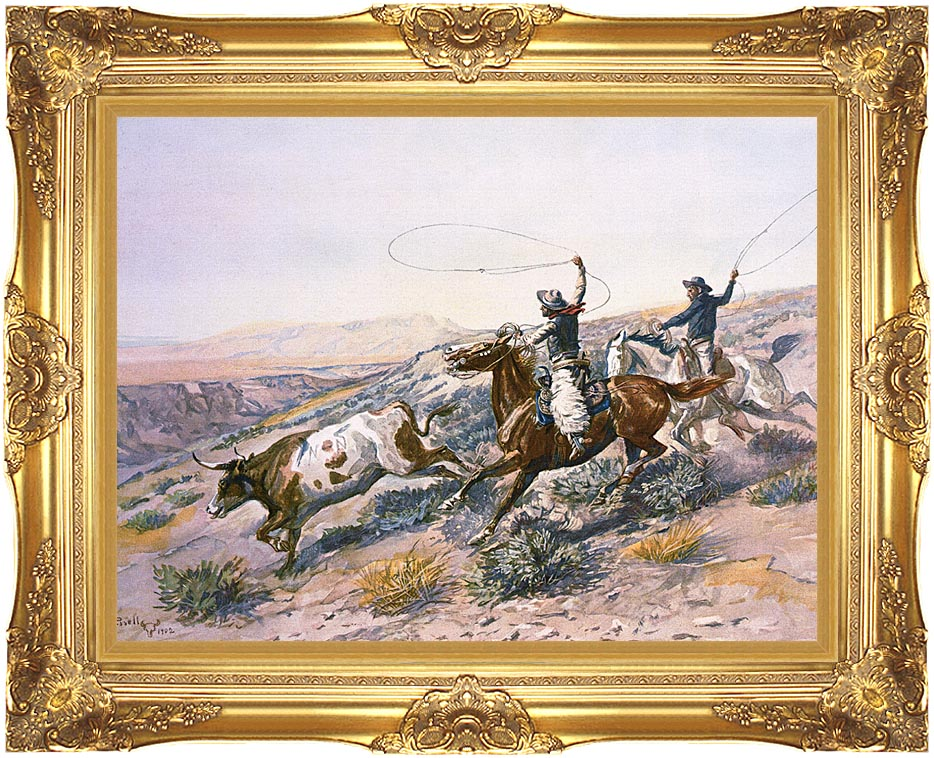 Charles Russell Buccaroos with Majestic Gold Frame